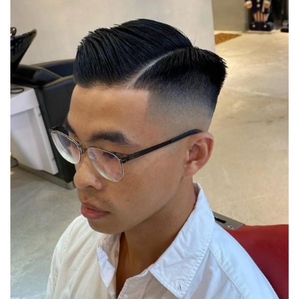 High fade haircuts for men With Side Razor Pattern