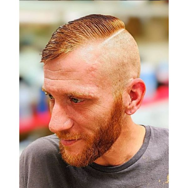 High fade haircuts for men With Sleek Top For Ginger Hair