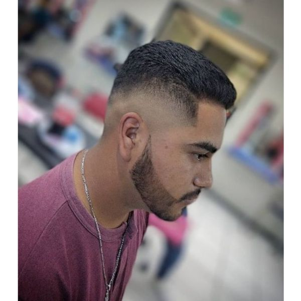 High Fade With Straight Short Top Hairstyle