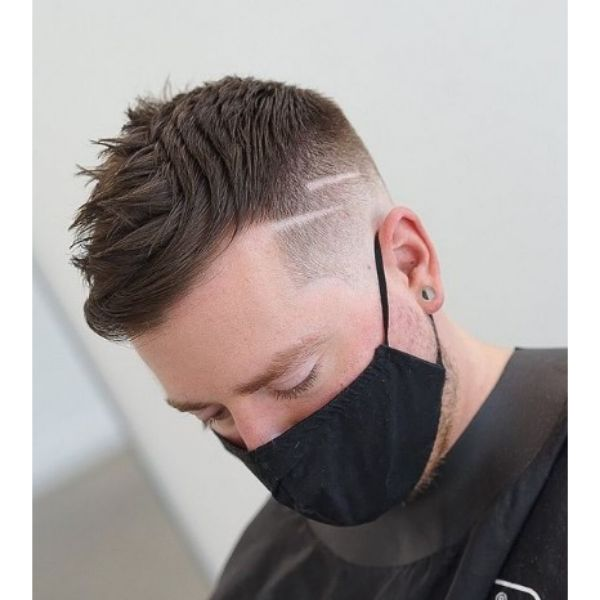 High fade haircuts for men With Textured Top
