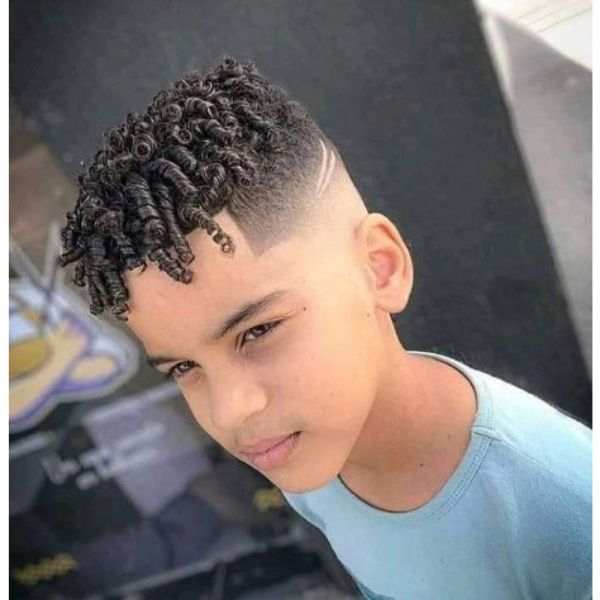 High fade haircuts for men With Twisted Coils Hairstyle