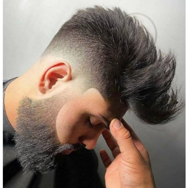 High fade haircuts for men With Undone Pompadour Hairstyles