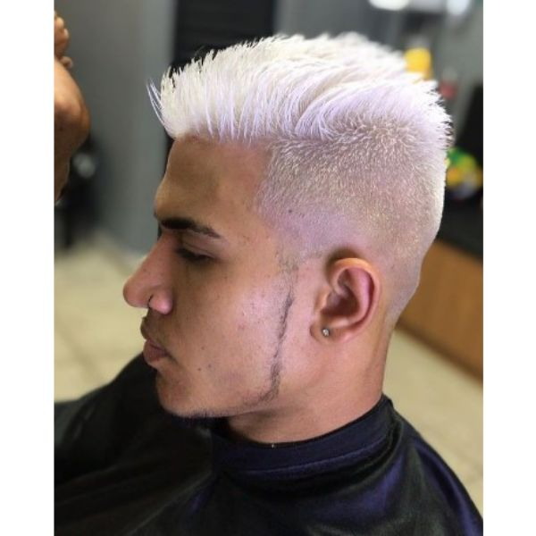 High Zero Fade For Platinum Blonde Hairstyle
