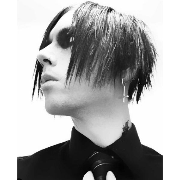 Marylin Manson's Style Emo Cut For Guys
