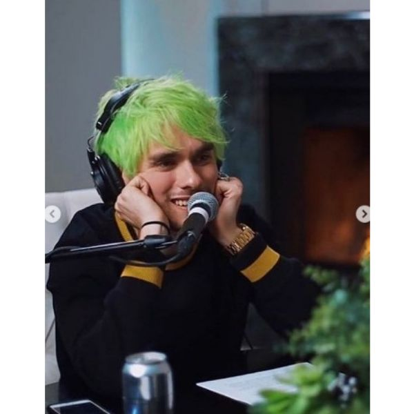 Neon Green Emo Style Haircut