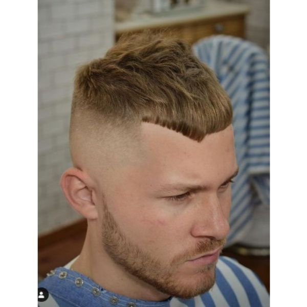 Sharp Fade With Blonde Cropped Top