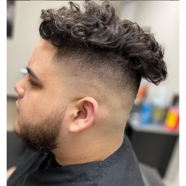 Sharp Stylish High Fade With Curly Top Hairstyles