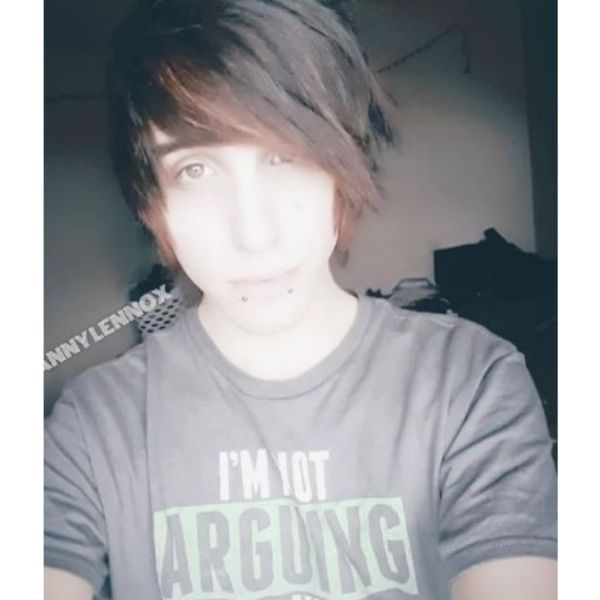 Short Dark Emo Hairstyles For Guys With Red Strands