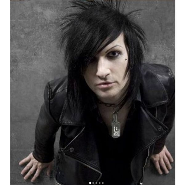 Straight Spiky Emo Hairstyle With Side-swept Bangs