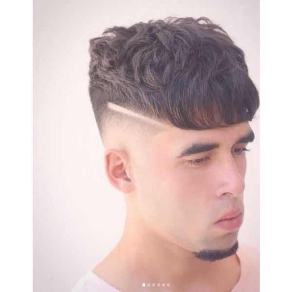 Stylish High Fade With Crop Top Hairstyle