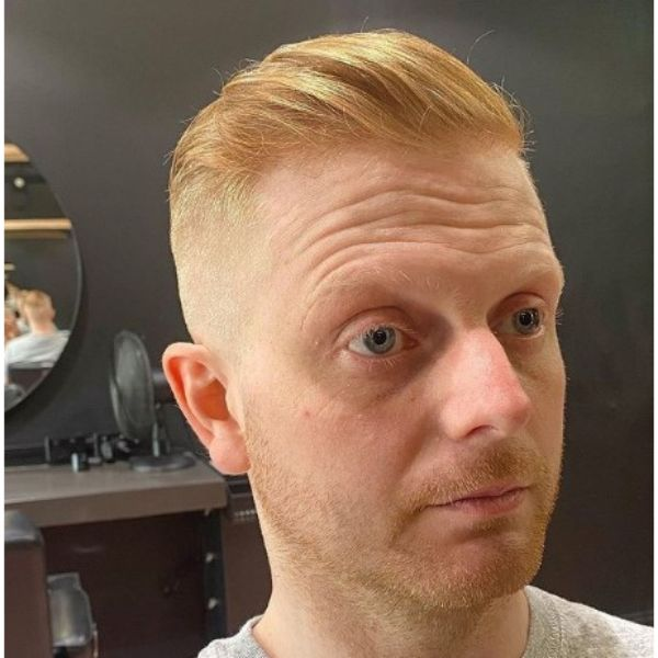 Zero Fade With Blonde Smooth Top