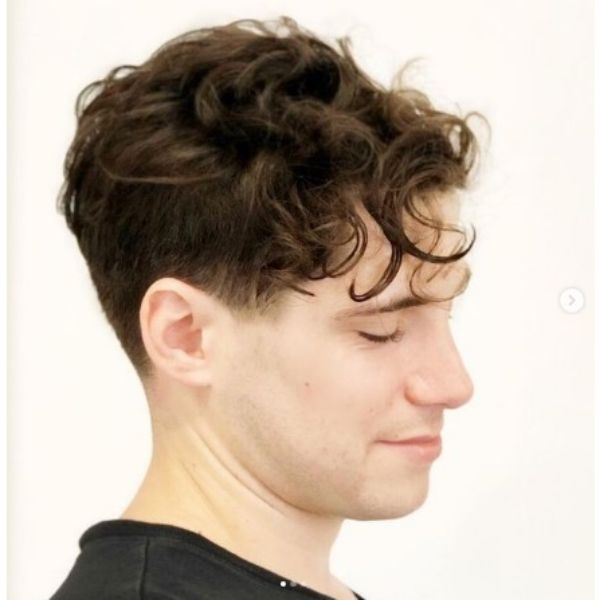 Curly Disconnected Skater Hairstyles For Men