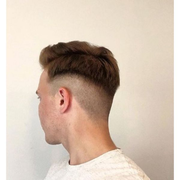 Disconnected Men Hairstyle With Side Part