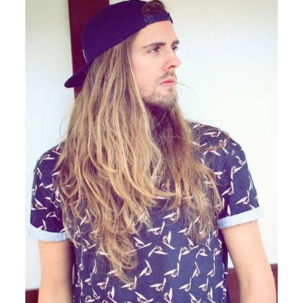 Long Layered Blonde Skater Hairstyles For Men