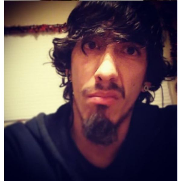Messy Long Medium Skater Hairstyle With Goatee