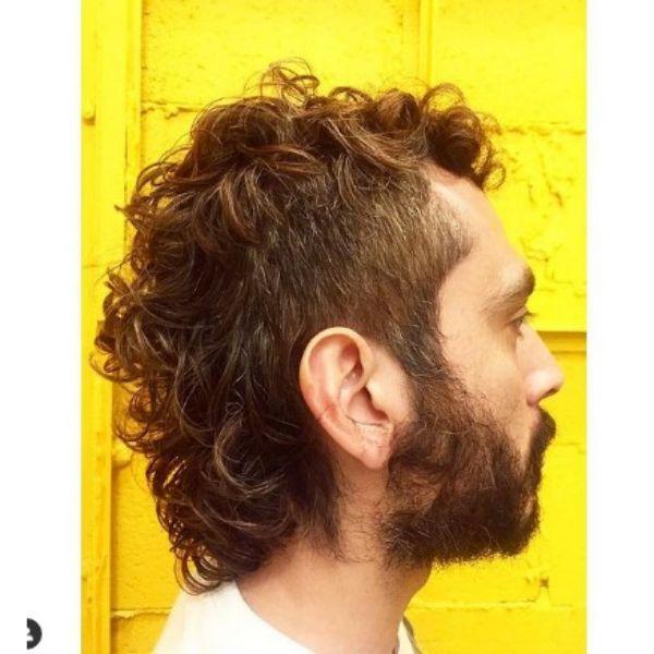 Short Chopped Mullet Haircut For Men