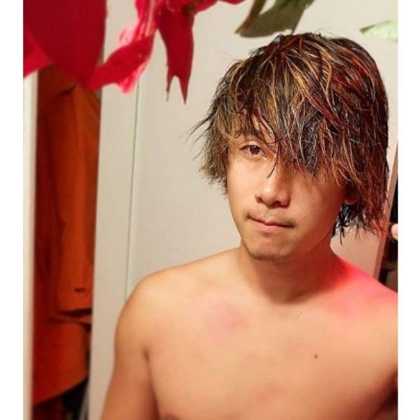 Short Multicolored Sleek Hair