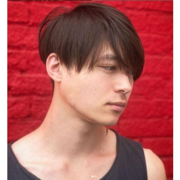 Straight Thin Skater Men Hairstyle