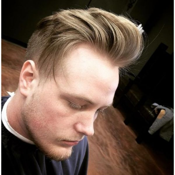 Blonde Long Trimmed Flow Haircut With Widows Peak Hairstyles