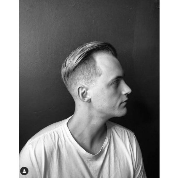 High Fade With Slick Back And Undercut Hairstyle For Men