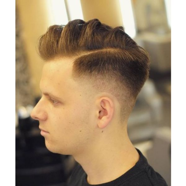 High Fade With Thin Side And Wavy Part