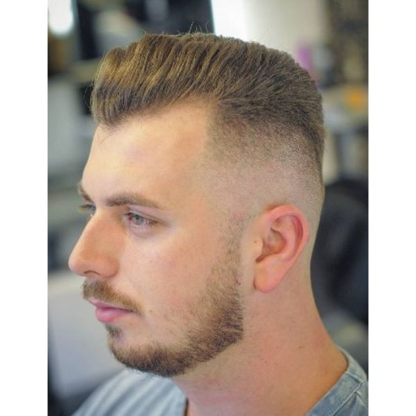 Sharp Fade With Widows Peak Hairstyles