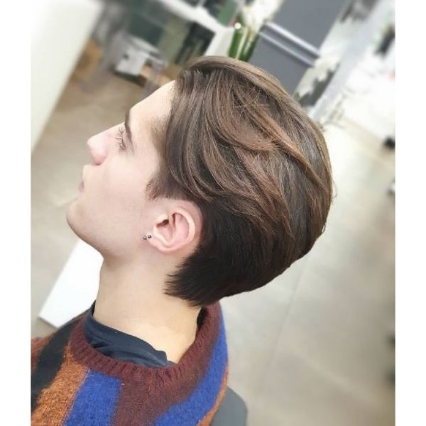 Slick Back Flow Haircut Widows Peak Hairstyles