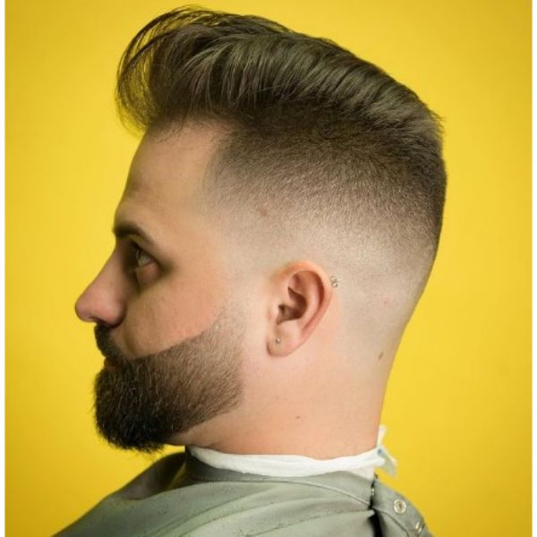 Soft Flattop Haircut With Sharp Fade