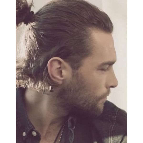 Top Knot With Widows Peak Hairstyles