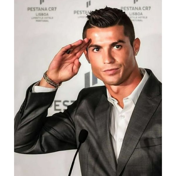 Cristiano Ronaldo Hairstyles High Fade With Spiky Top