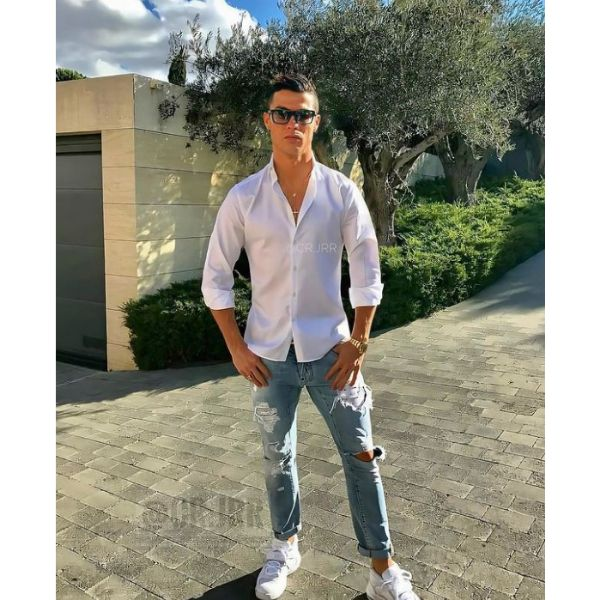 Cristiano Ronaldo Hairstyles High Zero Fade With Spiky Side-swept Top