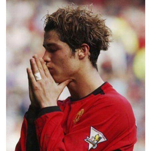 Messy Shaggy Medium Long Cristiano Ronaldo Hairstyles