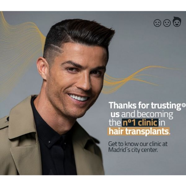 Short Combover with Hard Part And Side Design Cristiano Ronaldo Hairstyles