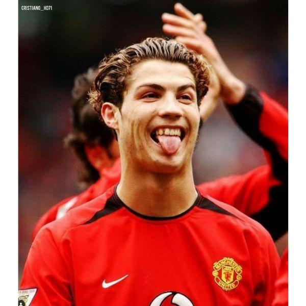 Short Curly Slick Back Cristiano Ronaldo Hairstyles
