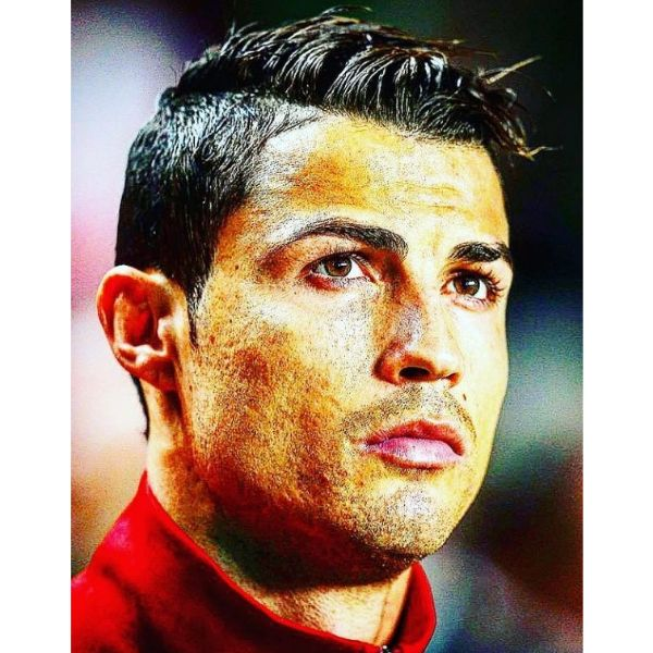 Taper Fade With Messy Top Cristiano Ronaldo Hairstyles