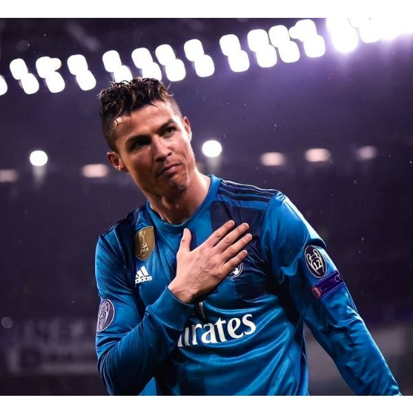Tight High Fade With Sleek Curly Top Cristiano Ronaldo Hairstyles