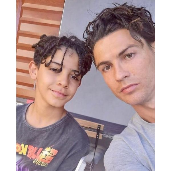 Wavy Curly Hairstyle With Subtle Brown Highlights Cristiano Ronaldo Hairstyles