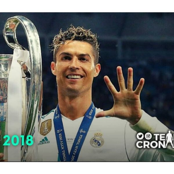 Zero Fade With Blonde Curly Top Cristiano Ronaldo Hairstyles
